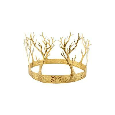 Adult Gold Woodland Crown Game Of Thrones Style Fancy Dress Headpiece
