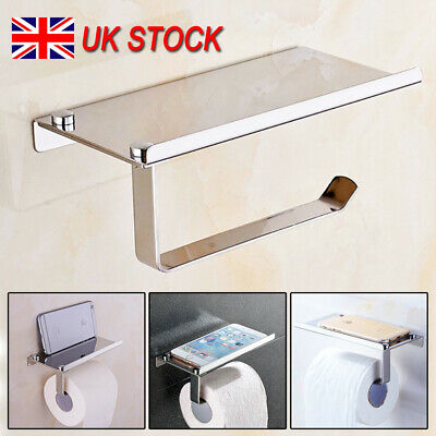 Toilet Tissue Holder Roll Papers Stand Dispensers Wall Mounted Silver Home