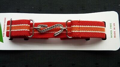 STRETCHY SNAKE BELTS/BOYS/GIRLS/CHILDRENS/KIDS......... RED with stripes UK MADE