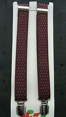 BRACES for BOYS/GIRLS/CHILDREN -NEW - WINE WITH WHITE SPOTS,  1-6 yrs. UK MADE