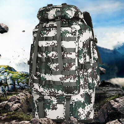 100L Tactical Military Backpack Hiking Climbing Camping Travel Large Sport Bag