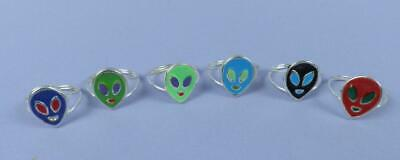 Selection of  c1970s Alien Toy Rings - Old Unused Stock
