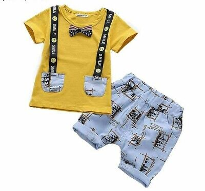Cute Summer Baby Boys Toddler Clothes Set Children Clothing 2pcs Kids Outfit New
