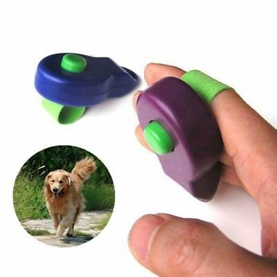 Dog Pet Training Clicker Trainer Teaching Tool Puppy With Finger Holder UK