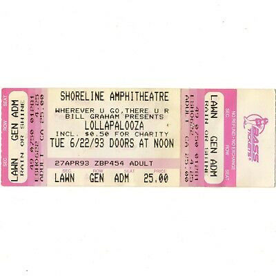 TOOL ALICE IN CHAINS RAGE AGAINST THE MACHINE Concert Ticket 6/22/93 SHORELINE