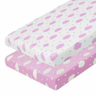 Baby Pack n Play Stretchy Fitted Playard Sheets Set Portable Mini Crib Pack