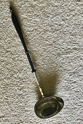 Sterling Silver and Ebony Antique 1850 Swedish Large Ladle
