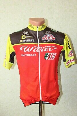 Pissei Team Wilier Cycling Jersey Shirt Bike Cycle Made in Italy Size S