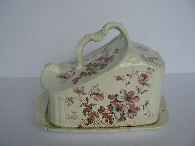 Very Large Fantastic Shape Antique Victorian Cheese Dish With Cover,