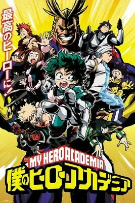 MY HERO ACADEMIA ANIME POSTER, Limited Version, Size 24x36