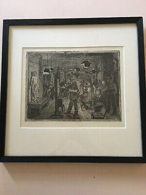 etching signed, Dated 1905. old from Denmark. Artist Unknown