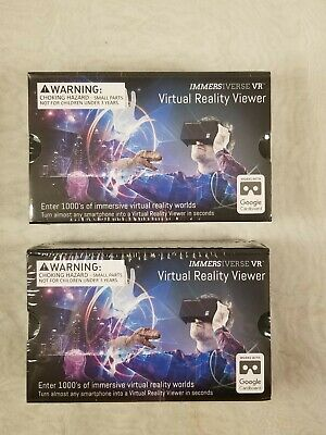 lot of (2) VR Virtual Reality Viewers by Immersiverse BlueSky IM-1001 New in box