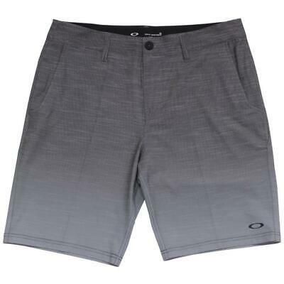 Oakley Leo Shorts Size 34 L Mens Black Grey Gradient Casual Boardies Boardshorts