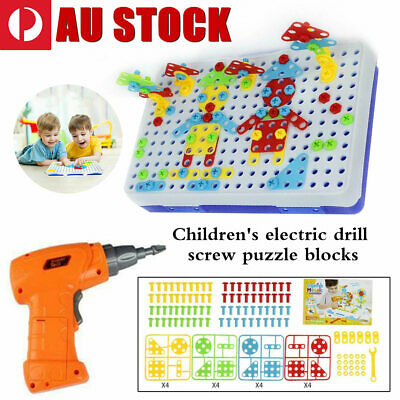 240pcs Electric Drill Puzzle Disassembly Kid Educational  Assembled Jigsaw Toy