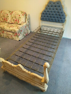 Vintage French Provincial Single Bed With Mattress