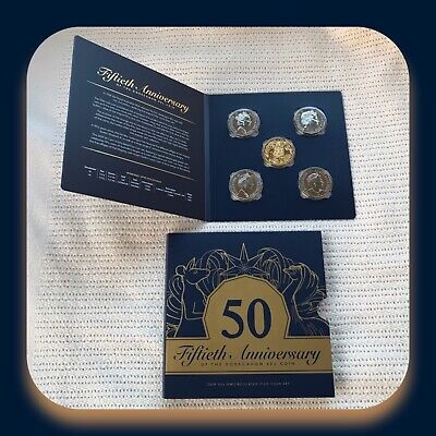 2019 50c Uncirculated Five Coin Set with a Gold Plated Coin 50th Anniversary