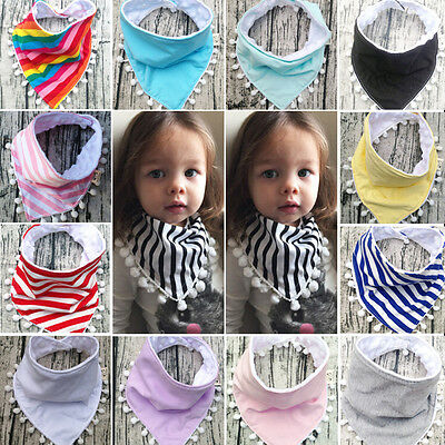 Cute Baby Boy Girls Saliva Towel Bandana Bibs Dribble Triangle Kids Head Scarf
