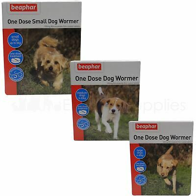 Beaphar One Dose Wormer Tablet Worming for Small, Medium or Large Dogs