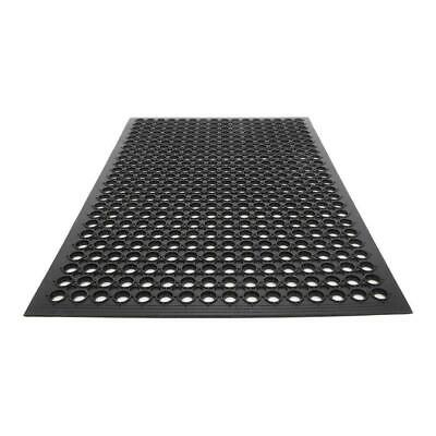 "High Grade Floor Mat Anti Fatigue Kitchen Bar Rubber Drainage Black 36"" x 60"" US"