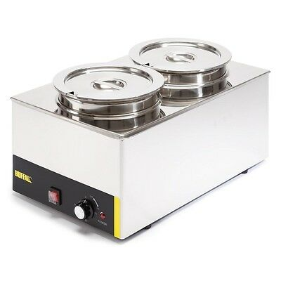 Buffalo Bain Marie without Tap with Two Round Pots -  S077  Catering