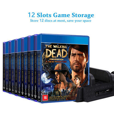 Multifunctional Cooling Stand with 12PCS Discs Storage for PS4,PS4 Slim PS4 Pro