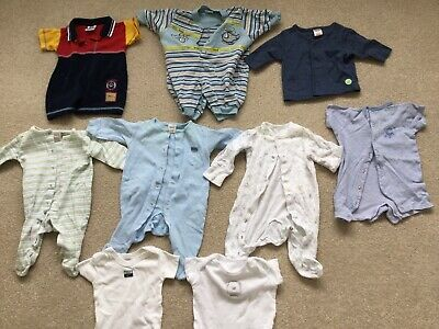 Baby Boys Clothes Bundle, Next,George,Mini Mode,Boots, 9 Items, Age 0-3 Months