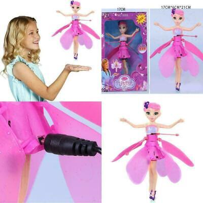 UK Flying Fairy Princess Dolls Magic Infrared Induction Control Toy Xmas Gift QR