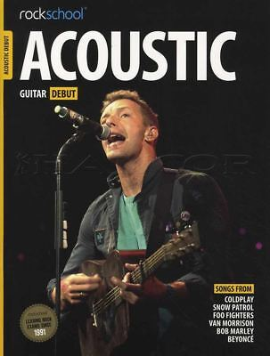 Rockschool Acoustic Guitar Debut TAB Music Book with Audio Access Tests Exams