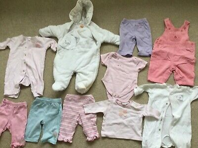 Baby Girls Clothes Bundle, Next,george,mini mode, 10 Items, Age 0-3 Months