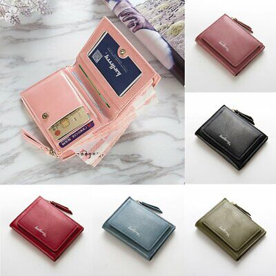 Women's Ladies Clutch Wallet Coin Bag Leather Simple Bifold Small Handbag Purse