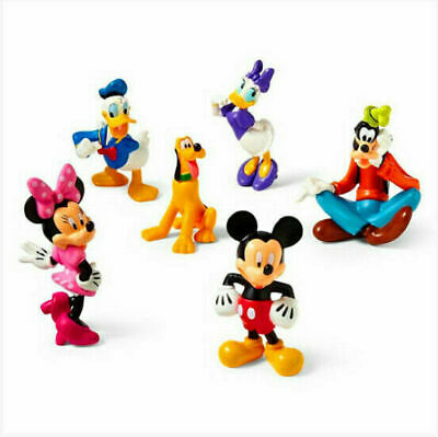 AU 6pcs Disney Mickey Mouse ClubHouse Action Figure Minnie Donald Cake Topper