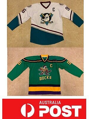 Mighty Ducks Ice Hockey jersey, Conway jersey  Green or white color, AU stock