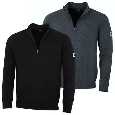 Footjoy Mens Lambswool 1/2 Zip Lightweight Pullover Golf Sweater 48% OFF RRP
