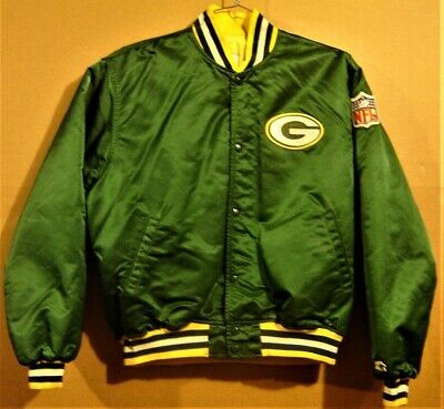 GREEN BAY PACKERS GREEN CHALKINE JACKET WITH NFL PATCH - By Starter In Size XL