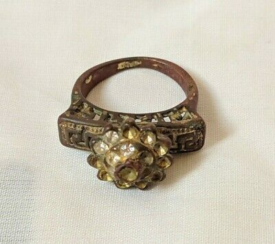 Ancient Ring Berber Bronze Artifact Very Old Stunning With Stones Extremely Rare