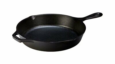 Lodge Cast Iron Skillet, Pre-Seasoned, for Stove Top/ Oven Use, 10.25'', Black