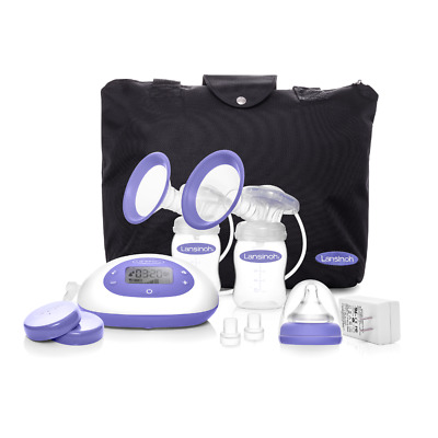 Lansinoh Signature Pro Portable Double Electric Breast Pump with LCD Screen and