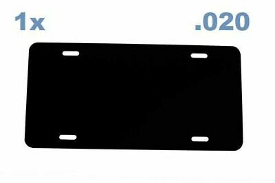 BLACK Anodized Aluminum License Plate Blank 12x6 .020 0.5mm Laser Cut in USA