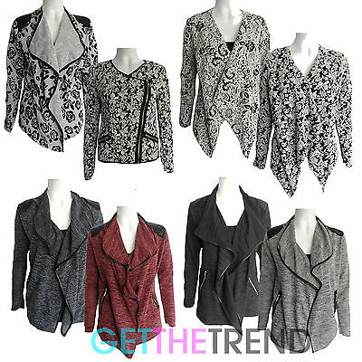Womens Floral Blazer Ladies Fancy Casual Short Cropped Jacket Cheap