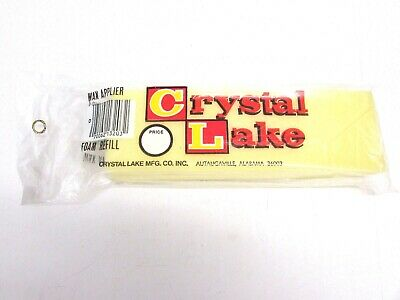 "NOS! (12) CRYSTAL LAKE 8"" x 2-1/2"" WAX APPLIER FOAM REFILL, REPLACEMENT HEAD"