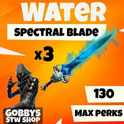 FORTNITE Save The World - 3 x Spectral Blade with WATER - GODROLL- PC PS4 XBOX