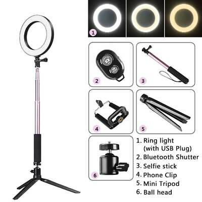 """5.5"""" LED Photography Ring Light Dimmable 5500K Lighting Photo Video Studio Stand"""