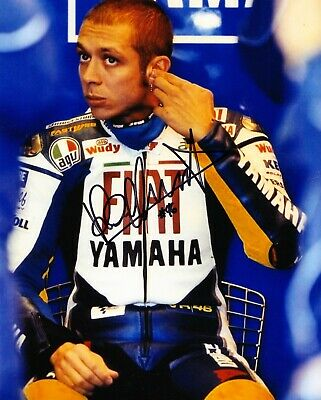 "Valentino Rossi Signed MotoGP Superbikes Photograph with COA (10""x8"")"
