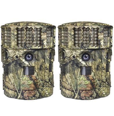 (2) New Moultrie No Glow 14MP Panoramic 180i Infrared Trail Game Cameras P-180i