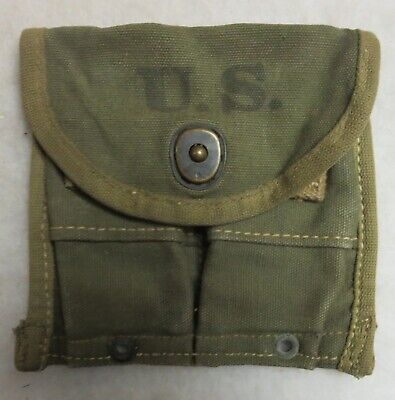 WW2 Vintage US GI Issue .30 M1 CARBINE MAG POUCH 1945 R.B. HANSON MFG Original
