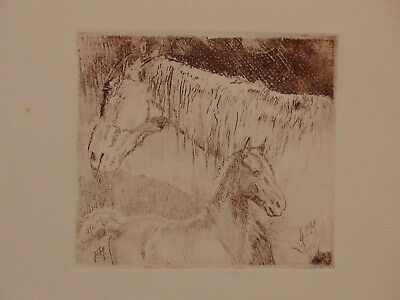 George Ford Morris Estate Artist Proof Lithograph of a Mare & Foal