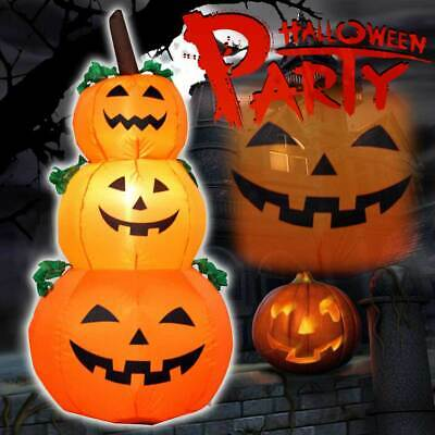 LED Light Large Inflatable Pumpkin Ghost Halloween Home Outdoor Yard Decoration
