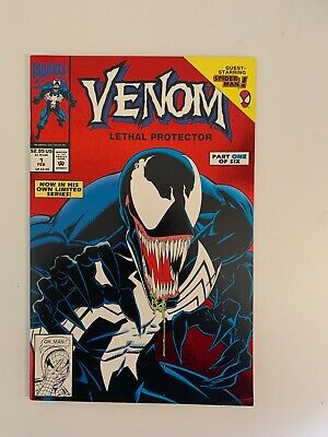 Venom Lethal Protector #1 (1993) ~  9.4 Near-Mint Condition ~  Red Foil edition