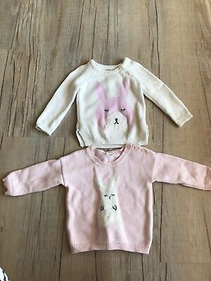 Baby Girl  Size 0 Seed Cotton Knit Jumpers