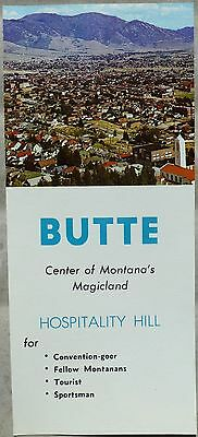 1960's Butte Montana promotional travel tourism chamber of commerce brouchre b
